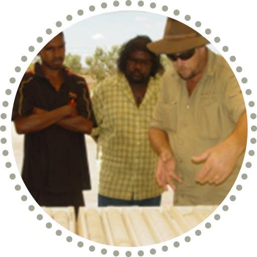 NACP colaborators inspecting core samples