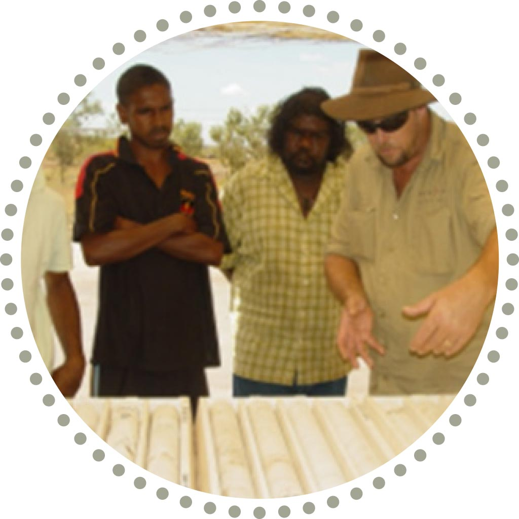 NACP colaborators inspecting core samples